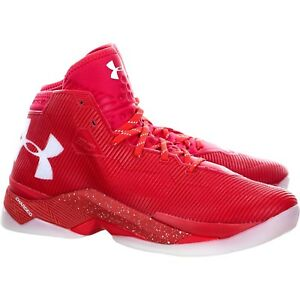 new concept 6e74a 59dae Details about Under Armour UA Curry 2.5 Rocket Red/White Men's 10 Charged  1274425 984 SC30