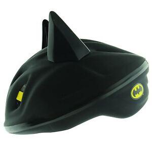 Batman Schläger 3D Fußbett Schutzhelm Kinder Schwarz Kopf Größe 53 - 56cm