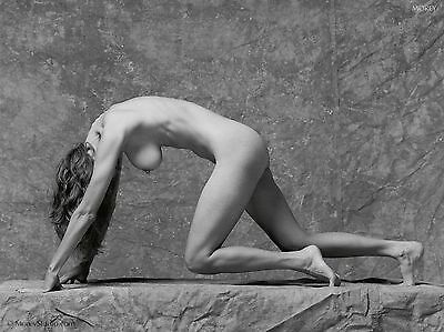 Fine Art Black & White Nude signed 8.5x11 photo by Craig Morey: Natalie 37043.10