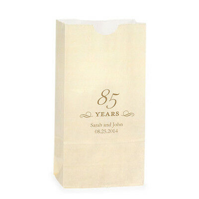 50 Milestone Year 85 Years Design Personalized Favor Bags Candy Buffet