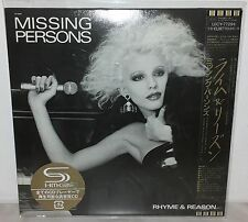 SHM-CD MISSING PERSONS - RHYME & REASON - UICY-77294 - JAPAN - NUOVO NEW