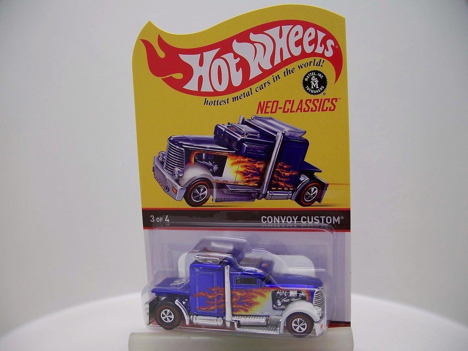 opciones a bajo precio Hot Wheels HWC convoy Personalizado llamas limitada a 4500 4500 4500 de 2013 Neo-Classics  hasta 42% de descuento