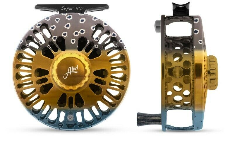 ABEL SUPER 45 FLY FISHING REEL IN WILD TROUT Coloreee, FREE  130 LINE  SHIPPING