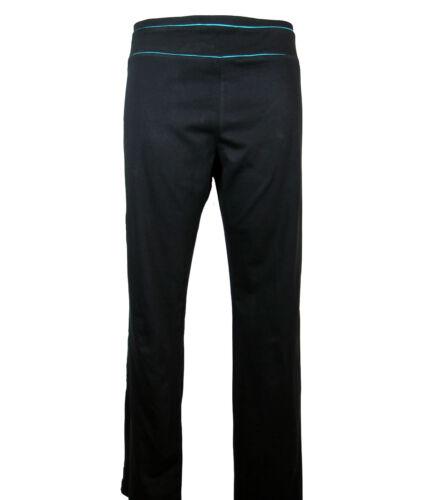 M/&S Cotton Rich Straight Leg Joggers Loungwear Med Length Black Size 8-22