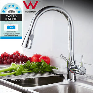 WATERMARK-Kitchen-Bathroom-Vanity-Sink-Mixer-Tap-Swivel-Pull-Out-Spout-Faucet