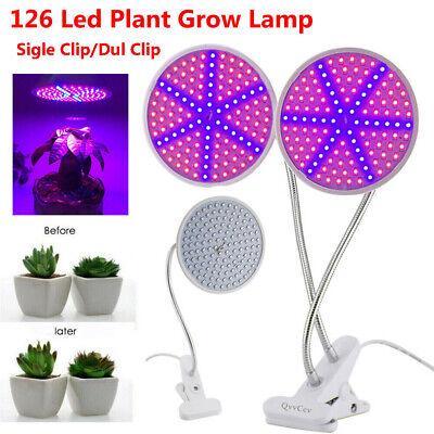 Dual Head 290 LED Grow Light Full Spectrum On Desk Plant Hydroponic Lamp Bulb