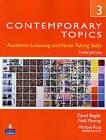 Contemporary Topics 3: Academic and Note-Taking Skills (Advanced) by David Beglar, Neil Murray (Paperback, 2009)