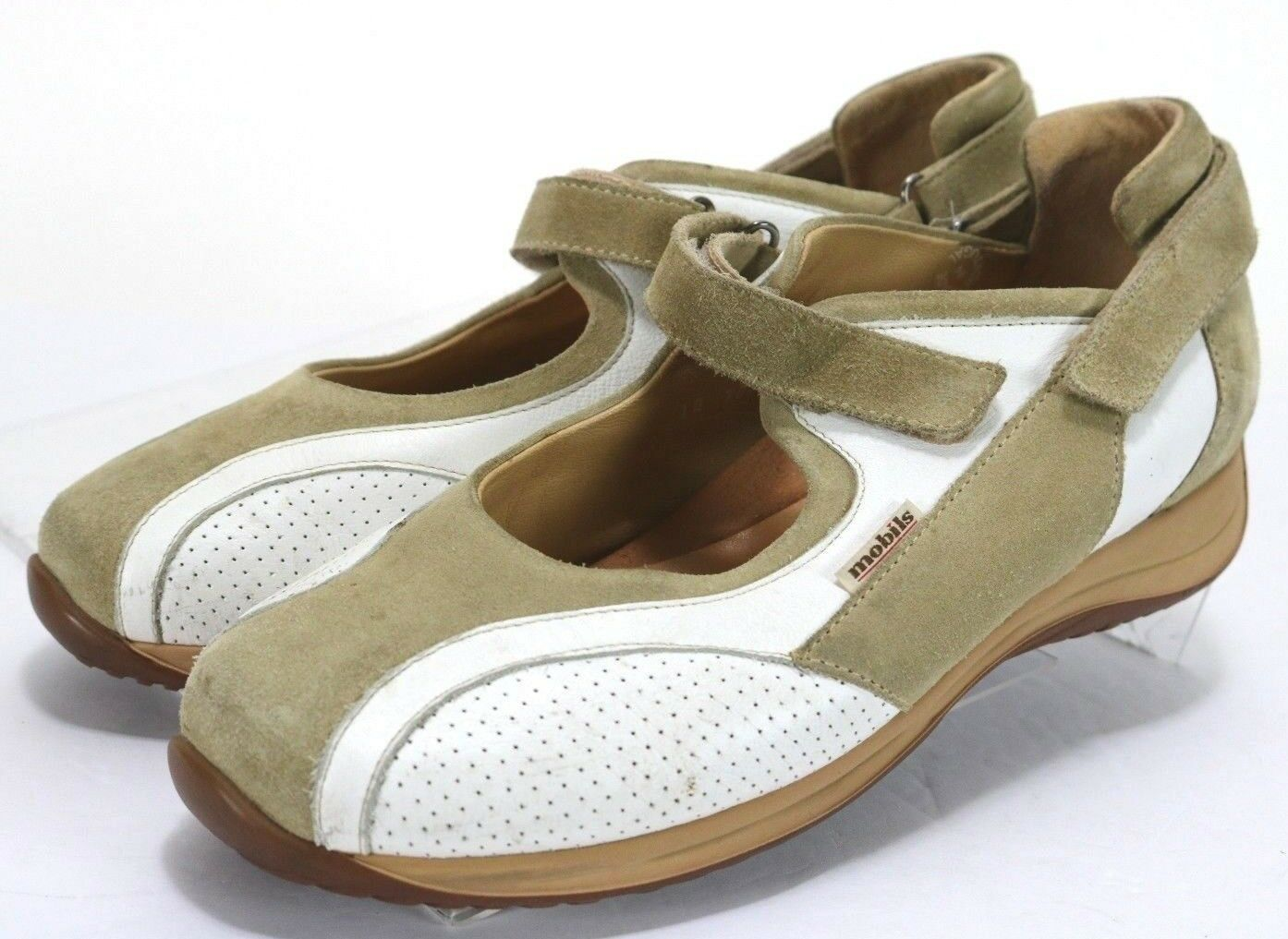 Mephisto Mobils  180 Women's Mary Janes shoes Size 7.5 Leather Beige White
