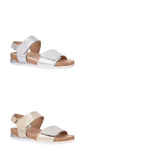 Womens-Natural-Comfort-Eureka-Silver-Gold-Sandals-Adjustable-Comfortable-Shoes
