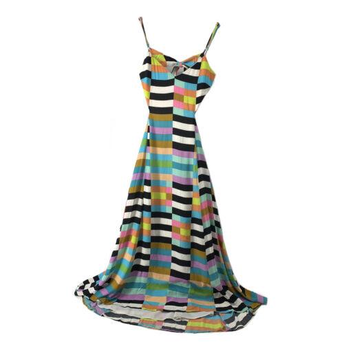 Mara Hoffman Dress Maxi Colorful Geometric Open Ba