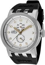 New  Men's Invicta 10388 DNA Vintage Light Silver Dial Black Silicone Watch