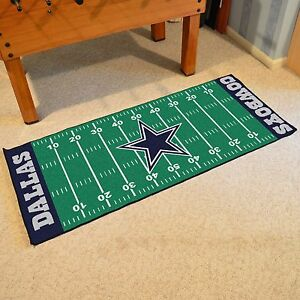 Image Is Loading Dallas Cowboys Nfl Football Field Runner Man Cave