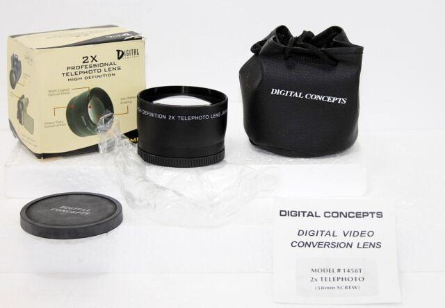 Digital Optics 58mm High Definition Pro 2x Telephoto Lens