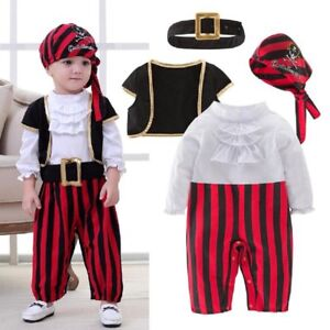 image is loading baby boy girl halloween pirate captain costume outfit