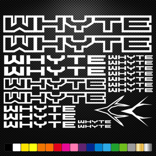 Whyte Vinyl Decal Stickers Sheet Bike Frame Cycles Cycling Bicycle Mtb Road