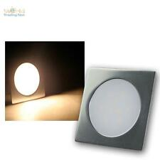 3er Set Slim LED Boden-Einbauleuchte warmweiß Alu matt, Bodeneinbau-Strahler 12V