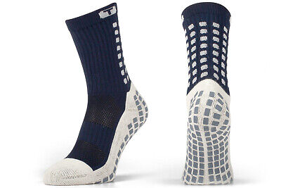 Trusox Unisex Al Polpaccio Cushion Crew Socks Sports Allenamento Casual Blu Navy-