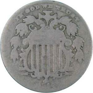 1882 Shield Nickel 5 Cent Piece AG About Good 5c US Type Coin Collectible
