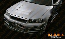 Nismo Z-Tune Style CARBON Bonnet Hood Vent Vents S13 S14 S14A S15 R32 R33 R34 v4