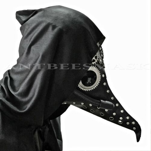 Halloween Dark Brown Doctor Plague Bird Short Nose Cosplay Costume Mask