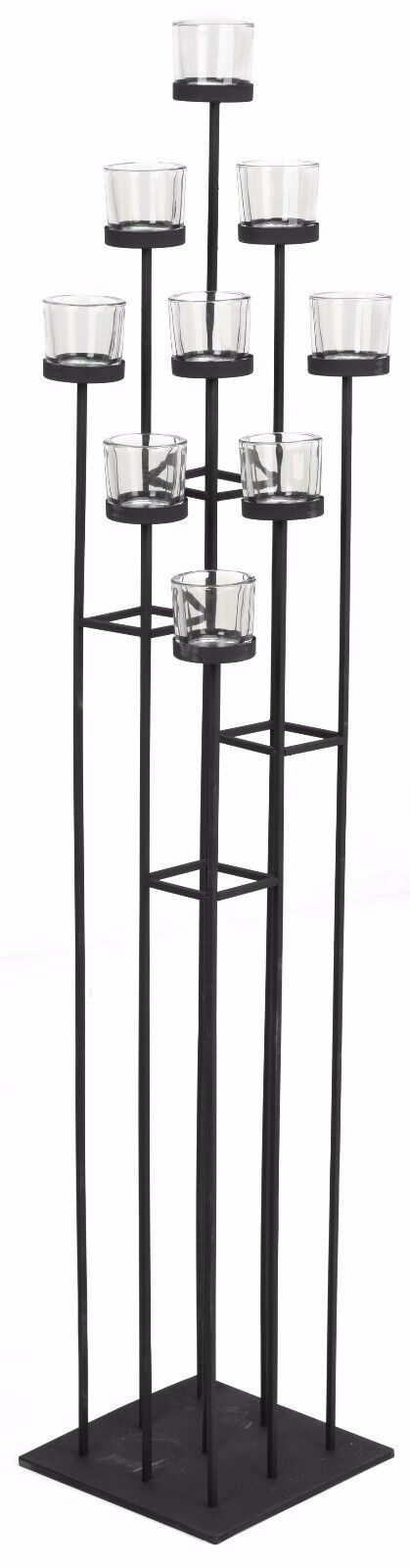 Very Tall Floor Standing Votive   Tea light Candle Holder 9 Candles inc. Cups