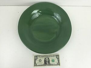 Pottery Barn Sausalito 12 Inch Dinner Plate Olive Green
