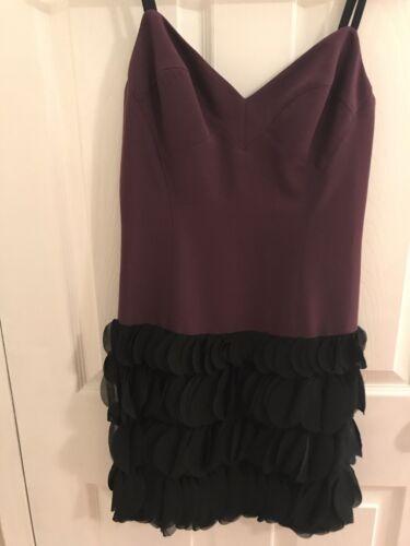 Halo 480 en zwarte jurk paarse diepe Dames 6 maat verkoopt mini Sqnvq8pw