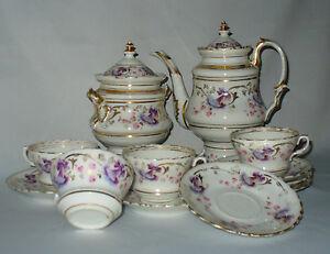 Ancien service a the en porcelaine de paris epoque for Decoration sur porcelaine