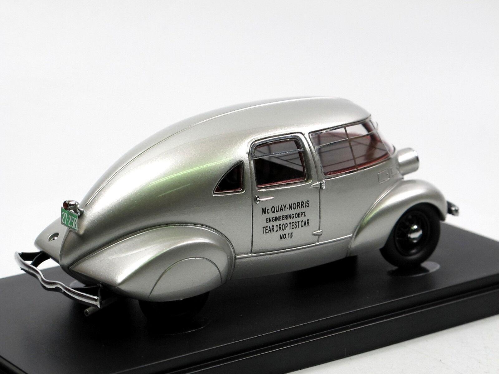 Autocult 04007 1934 McQUAY-NORRIS Streamliner Aluminium Egg Egg Egg 1 43 TEST CAR 217d05