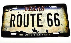 USA Auto Nummernschild License Plate Deko Blechschild Texas Route 66