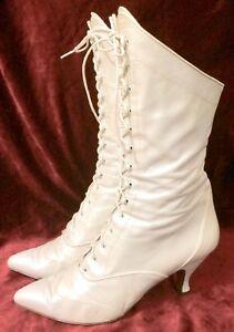 Western Wedding Boot Vesper Oak Tree White Victorian