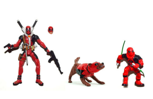 "Marvel Universe 3.75/"" Deadpool and Kidpool and Dogpool Loose Action Figure"