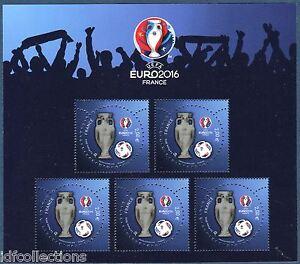 bloc feuillet UEFA tirage limité du salon parisphilex 2016 impression plexi