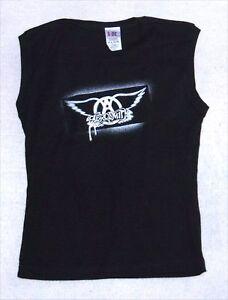 Aerosmith-Stencil-Logo-Sleeveless-Girls-Shirt-Os-New-Official-Band-Merch