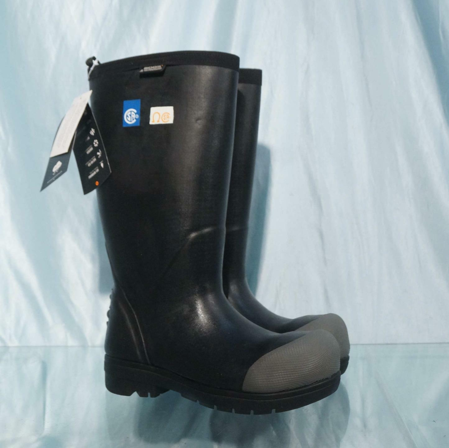 Black BOGS FOOD PRO ST Insulated Waterproof Steel Toe Muck Boots Sz 5 New w Tags