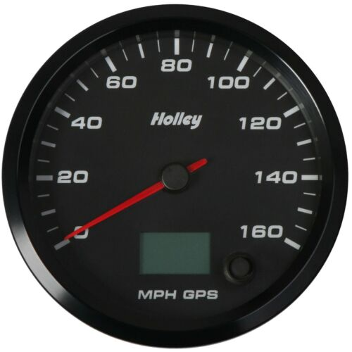 Diameter 0-160 MPH 240 Degr Holley 26-612 Analog-Style GPS Speedometer 3-3//8 in