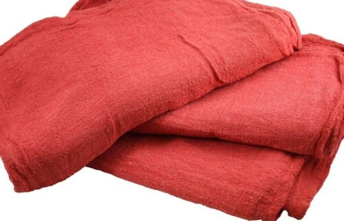 2500 PACK NEW INDUSTRIAL COMMERCIAL STANDARD RED SHOP CLEANING TOWEL RAGS 13X14