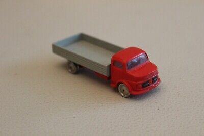 Amichevole Rare : Petit Camion Truck Bétaillère Lego Mercedes Rouge Et Gris Vintage 8 Cm Ricco E Magnifico