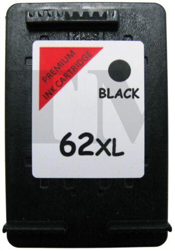 62 XL Nero Remanufactured Cartuccia di Inchiostro per Stampanti HP Envy 5544