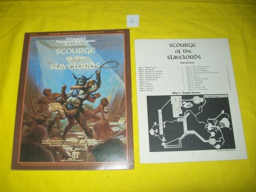 A 14 SCOURGE OF THE SLAVELORDS DUNGEONS & DRAGONS AD&D 6 TSR 9167 SUPERMODULE
