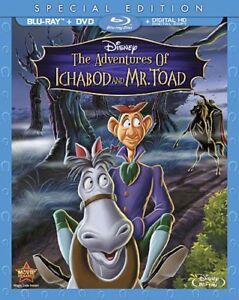 Disney-LAS-AVENTURAS-DE-ICHABOD-Y-MR-Toad-Blu-Ray-Dvd-slip-conjunto-de-2-Discos-Nuevo