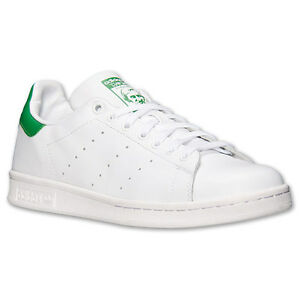 Image is loading Adidas-Original-M20324-M20605-Stan-Smith-White-Green-