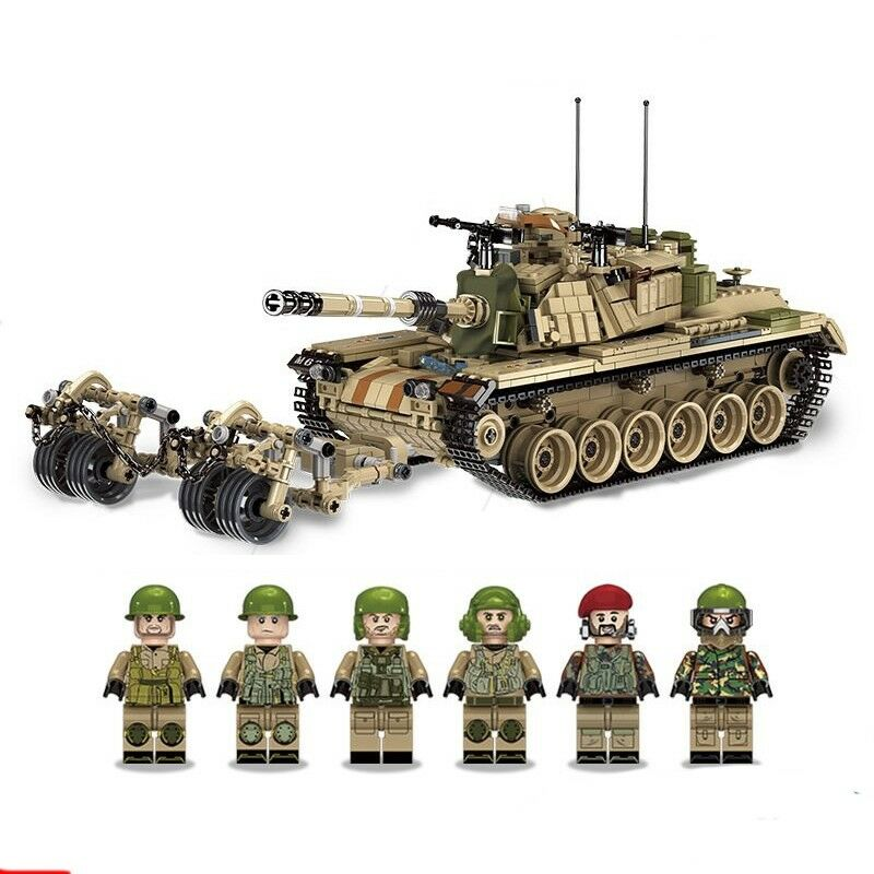New 1753pcs Military World War M60 Magach Main Battle Tank 2in1 WW2 Army Forces