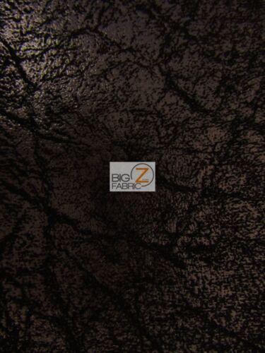 "VINYL PLEATHER 2 TONE DISTRESSED GRANUM PVC FABRIC Black 54/"" WIDTH SOLD BTY"
