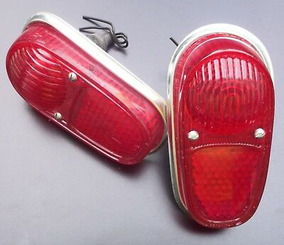 Sold each. RENAULT DAUPHINE REAR TAIL LIGHTS COMPLETE