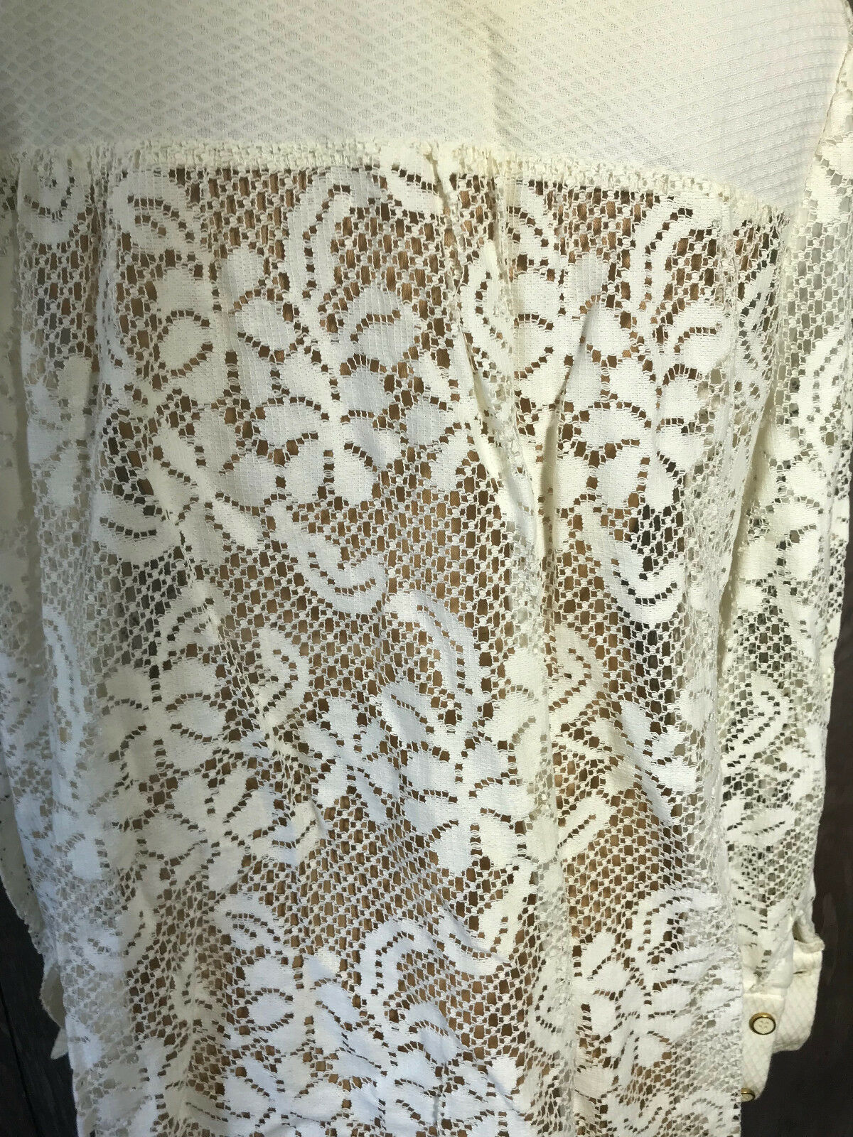 Vintage 1970's Lace Woman's Swimwear Cover Shirt … - image 11