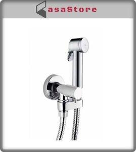 Set idrogetto Bossini Paloma idroscopino per pulizia wc con rubinetto di tenuta