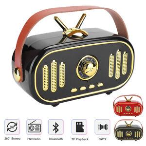 FT-101BT Haut-parleur portable Bluetooth sans fil Rétro Radio Mini Subwoofer 1200 MAH