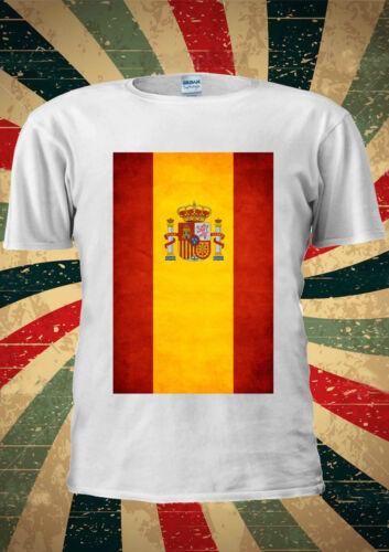 Spanish Flag Vintage Spain Madrid Barcelona T Shirt Men Women Unisex 1416