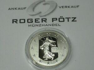 10 Euro 2010 Säerin 50 Jahre Neuer Franc Silber PP proof Zertifikat und Etui